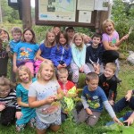 second graders in the wetlands