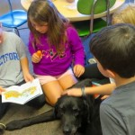 """Paws to Read""......second graders reading to Plato"
